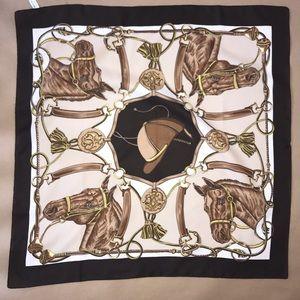Italian made equestrian scarf